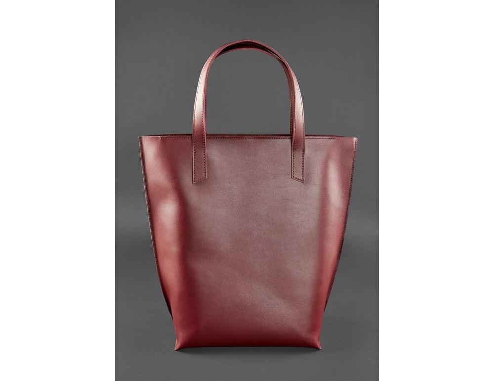 Містка жіноча сумка Шопер blanknote D.D. бордовий - Фотографія № 1