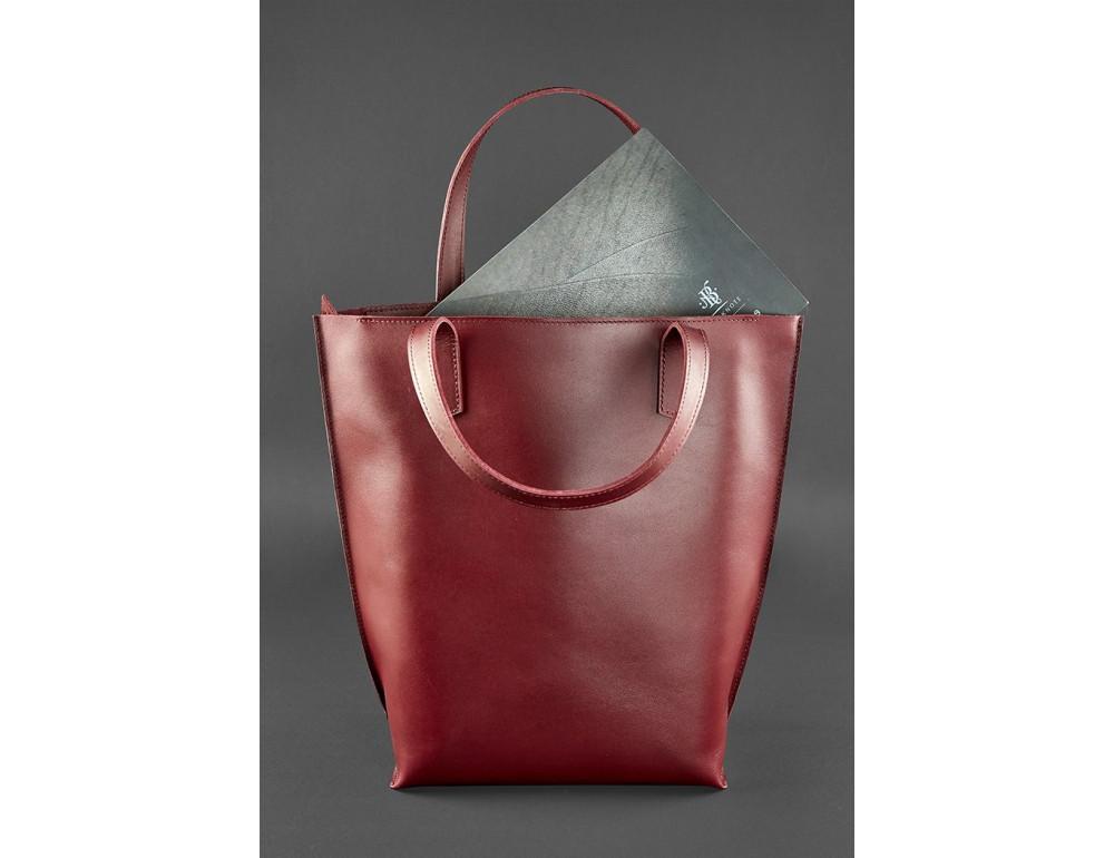 Містка жіноча сумка Шопер blanknote D.D. бордовий - Фотографія № 3