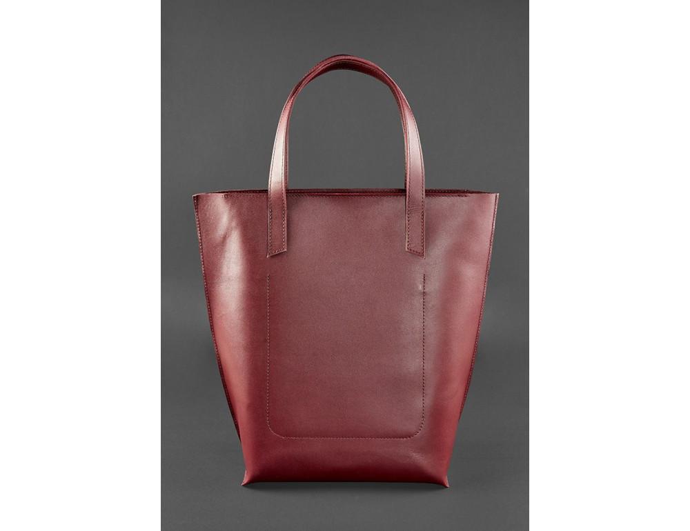 Містка жіноча сумка Шопер blanknote D.D. бордовий - Фотографія № 4