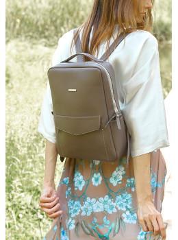 Темно-бежевий жіночий рюкзак зі шкіри Blancnote BN-BAG-19-BEIGE