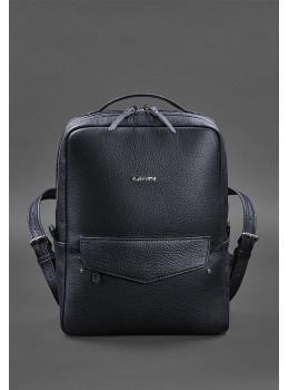 Темно-синій шкіряний рюкзак жіночий Blancnote BN-BAG-19-navy