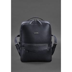 Тёмно-синий кожаный рюкзак женский Blancnote BN-BAG-19-navy