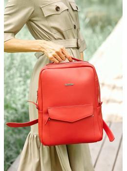 Червоний жіночий рюкзак зі шкіри Blancnote BN-BAG-19-red