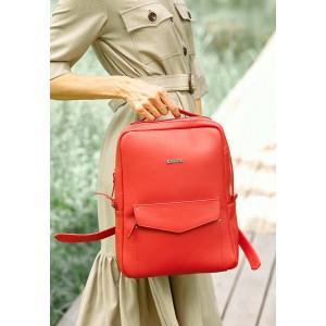Красный женский рюкзак из кожи Blancnote BN-BAG-19-red
