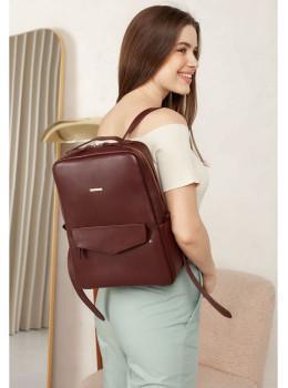Бордовий жіночий рюкзак з телячої шкіри Blancnote BN-BAG-19-VIN
