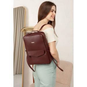 Бордовый женский рюкзак из телячьей кожи Blancnote BN-BAG-19-VIN