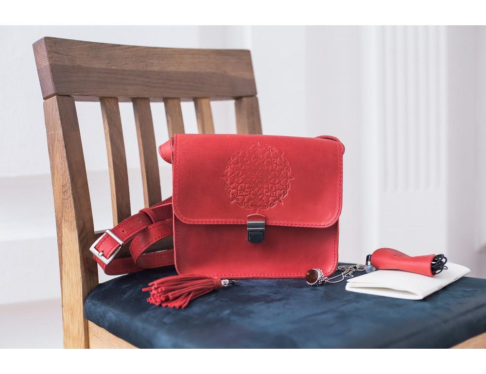 Коралловая сумка через плечо Blanknote bn-bag-3-coral - Фото № 4