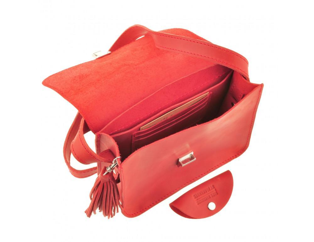 Коралловая сумка через плечо Blanknote bn-bag-3-coral - Фото № 5