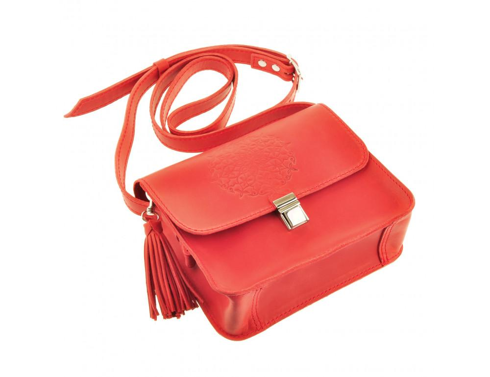 Коралловая сумка через плечо Blanknote bn-bag-3-coral - Фото № 6