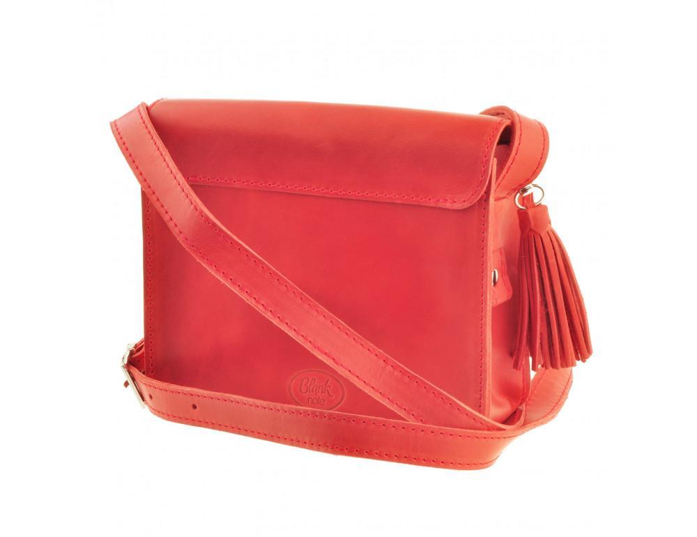 Коралловая сумка через плечо Blanknote bn-bag-3-coral - Фото № 7