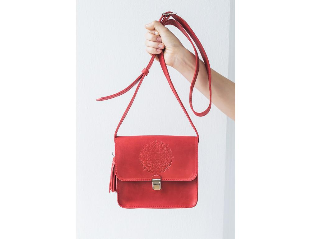 Коралловая сумка через плечо Blanknote bn-bag-3-coral - Фото № 8