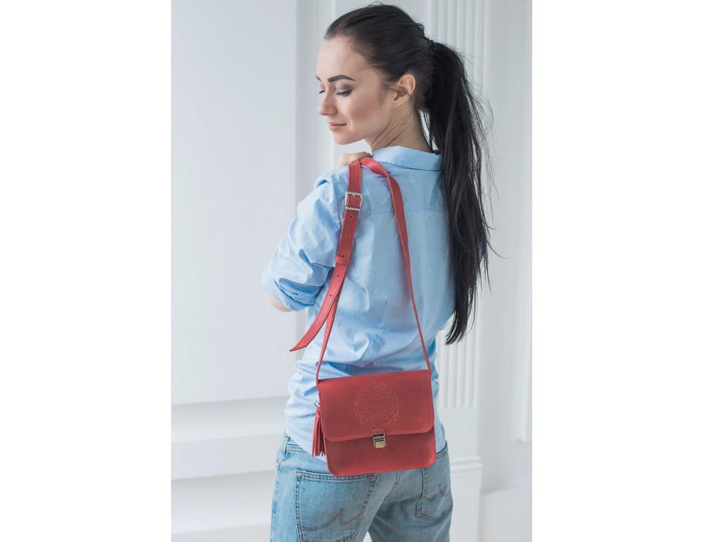Коралловая сумка через плечо Blanknote bn-bag-3-coral - Фото № 10