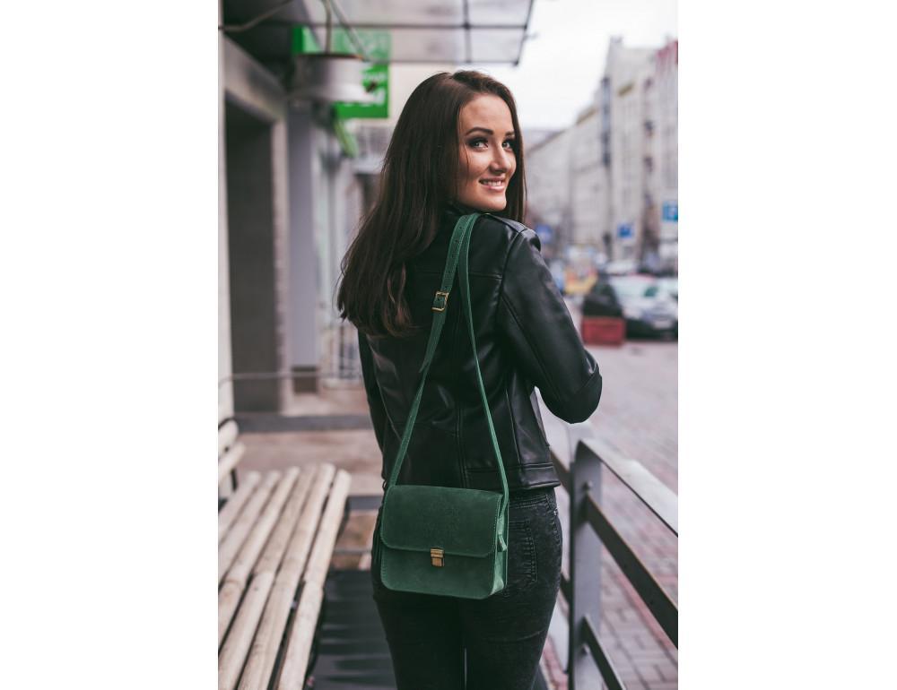 Изумрудовая сумка через плечо Blanknote BN-BAG-3-iz-man - Фото № 5