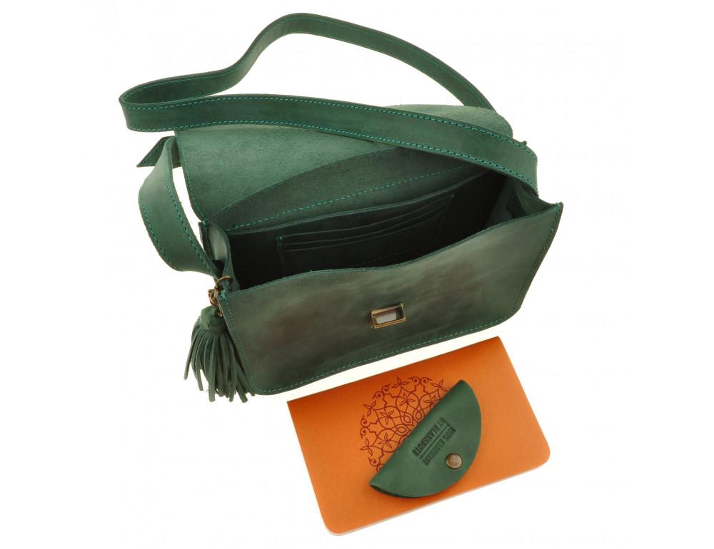 Изумрудовая сумка через плечо Blanknote BN-BAG-3-iz-man - Фото № 6