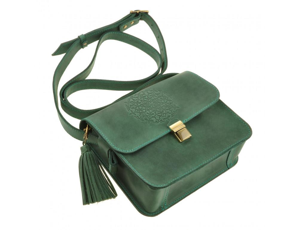 Изумрудовая сумка через плечо Blanknote BN-BAG-3-iz-man - Фото № 7