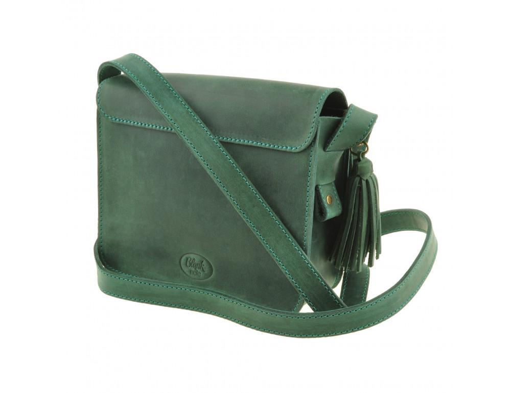 Изумрудовая сумка через плечо Blanknote BN-BAG-3-iz-man - Фото № 8