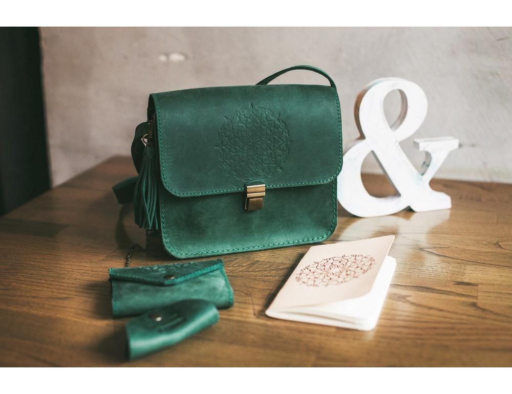 Изумрудовая сумка через плечо Blanknote BN-BAG-3-iz-man - Фото № 9
