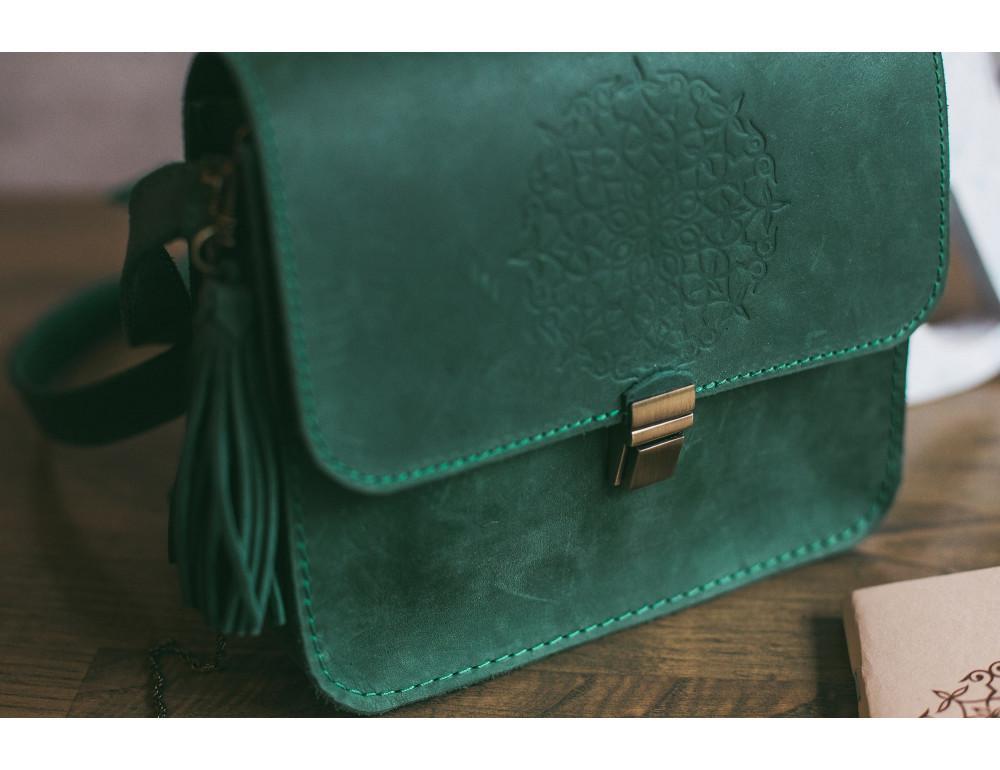 Изумрудовая сумка через плечо Blanknote BN-BAG-3-iz-man - Фото № 10