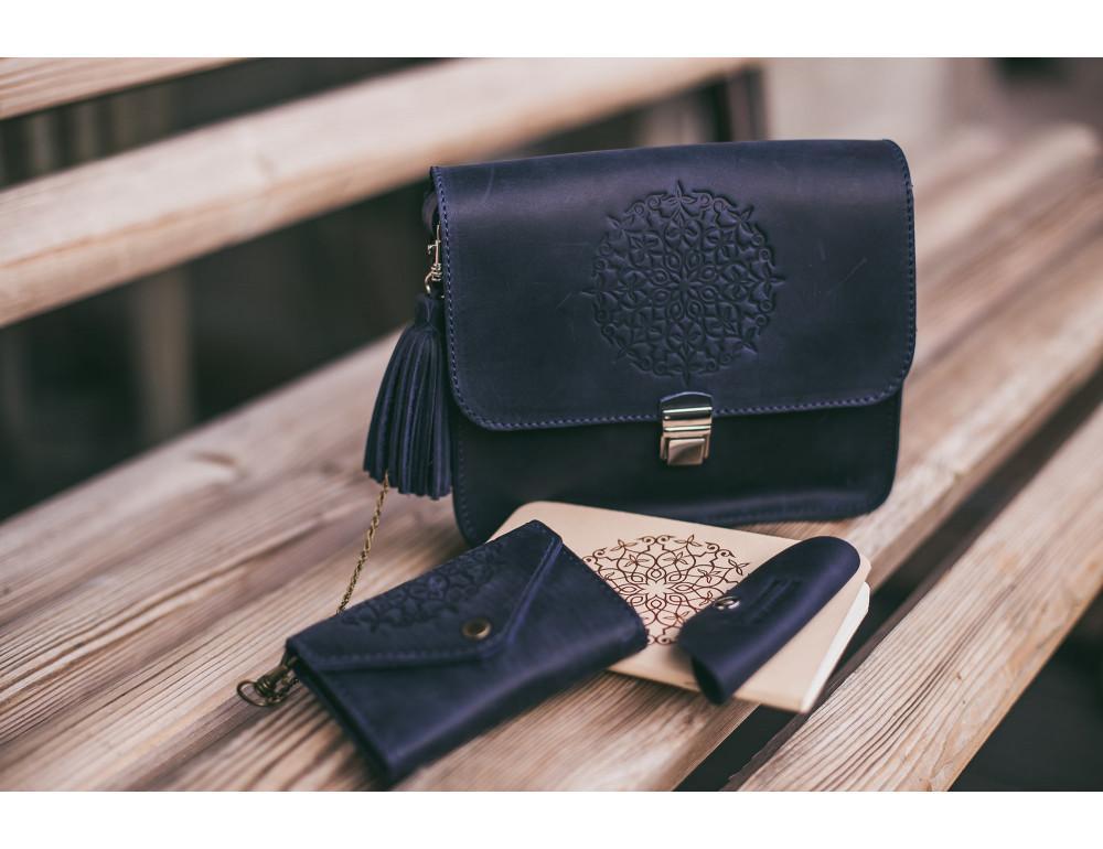 Шкіряна сумка через плече Blanknote bn-bag-3-nn-man - Фотографія № 4