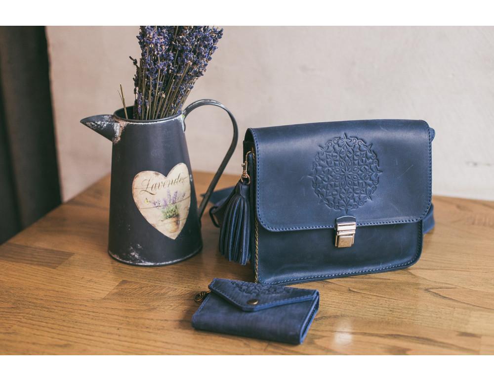 Шкіряна сумка через плече Blanknote bn-bag-3-nn-man - Фотографія № 8