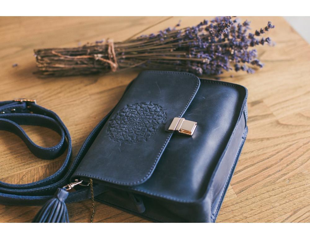 Шкіряна сумка через плече Blanknote bn-bag-3-nn-man - Фотографія № 9