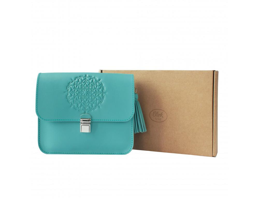 Бирюзовая кожаная сумочка Blanknote BN-BAG-3-tiffany - Фото № 5