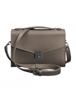 Тёмно-бежевая кожаная сумка через плечо Blanknote BN-BAG-35-BEIGE