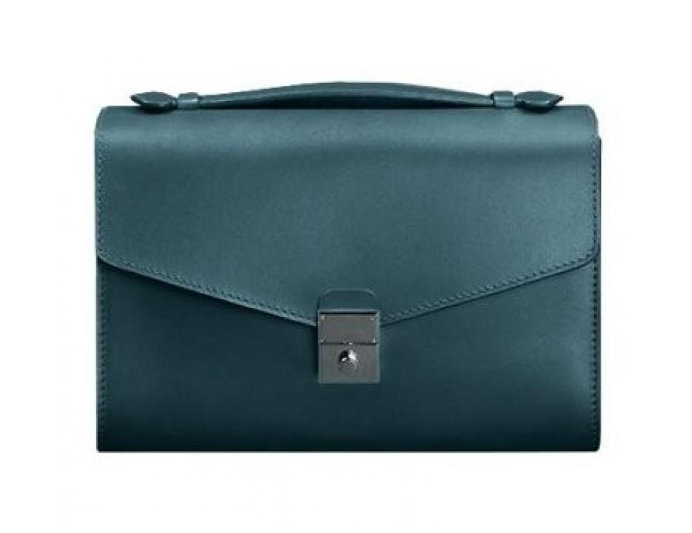 Зелёная кожаная сумка через плечо Blanknote BN-BAG-35-MALACHITE - Фото № 1