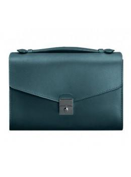 Зелёная кожаная сумка через плечо Blanknote BN-BAG-35-MALACHITE