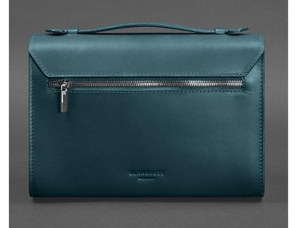 Зелёная кожаная сумка через плечо Blanknote BN-BAG-35-MALACHITE - Фото № 4