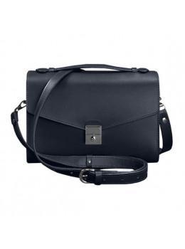 Тёмно-синяя кожаная сумка через плечо BN-BAG-35-NAVY-BLUE