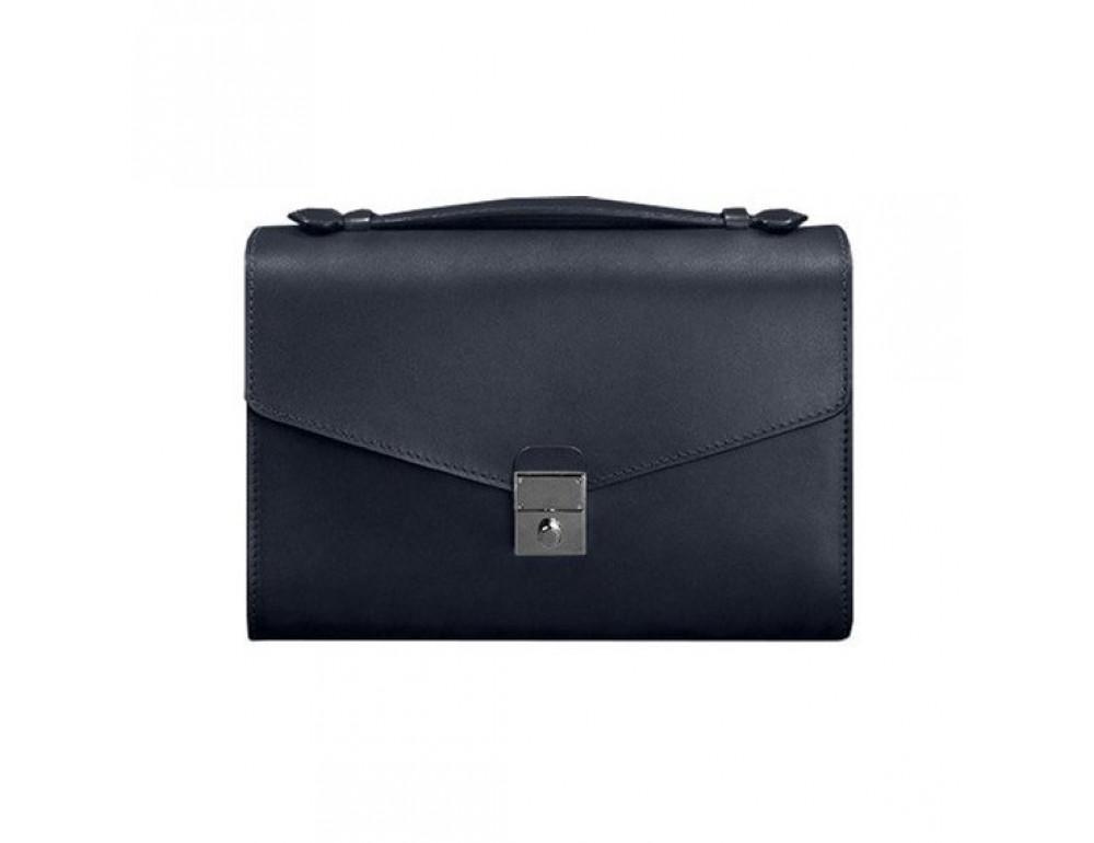 Тёмно-синяя кожаная сумка через плечо BN-BAG-35-NAVY-BLUE - Фото № 3
