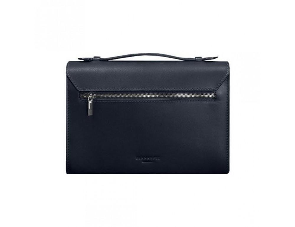 Тёмно-синяя кожаная сумка через плечо BN-BAG-35-NAVY-BLUE - Фото № 4