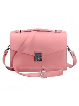 Розовая кожаная сумка через плечо Blanknote BN-BAG-35-PINK
