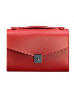 Красная кожаная сумка через плечо Blanknote BN-BAG-35-RUBIN