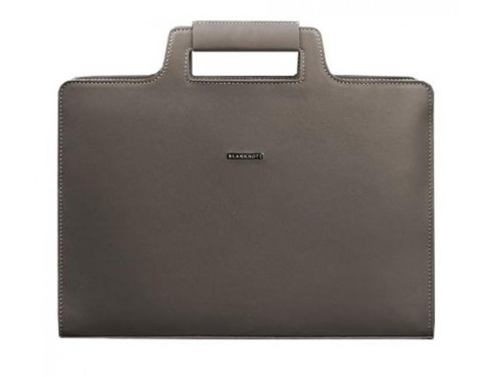 Тёмно-бежевая кожаная сумка под документы женская Blanknote BN-BAG-36-BEIGE