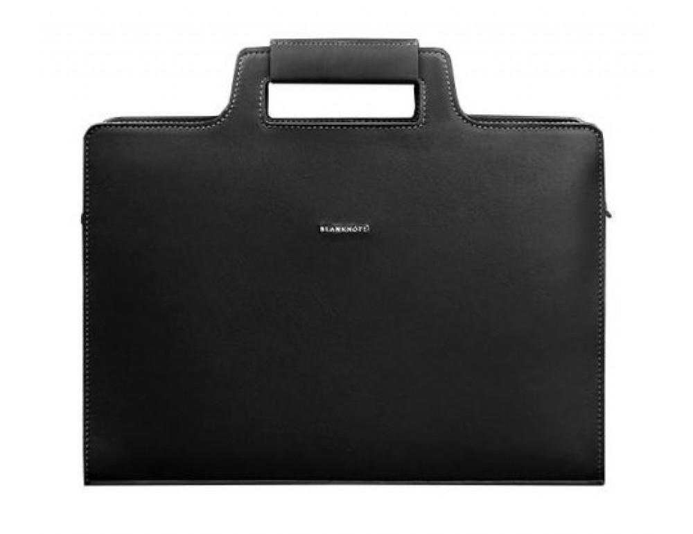 Чёрная женская сумка для документов Blanknote BN-BAG-36-g
