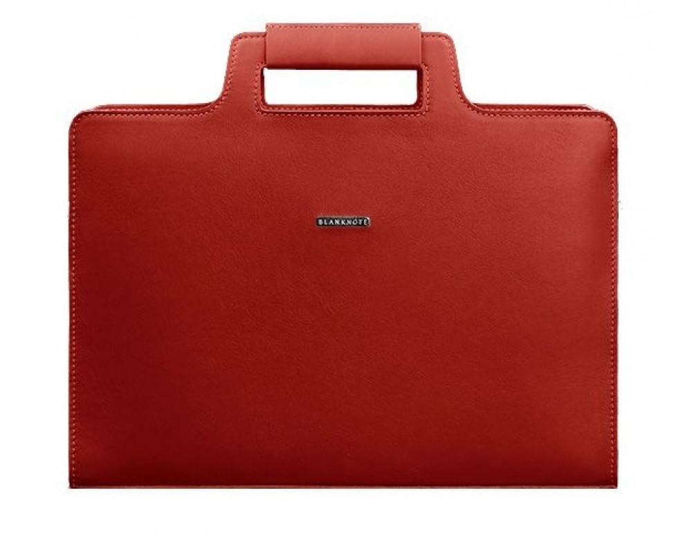 Красный женский кожаный портфель Blanknote BN-BAG-36-red