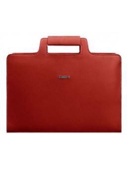 Червоний жіночий шкіряний портфель Blanknote BN-BAG-36-red