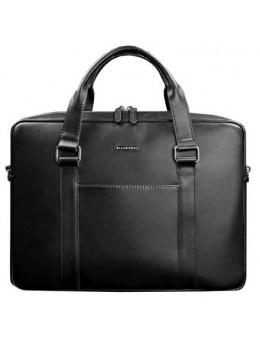 Чорна шкіряна сумка для документів Blancnote BN-BAG-37-g