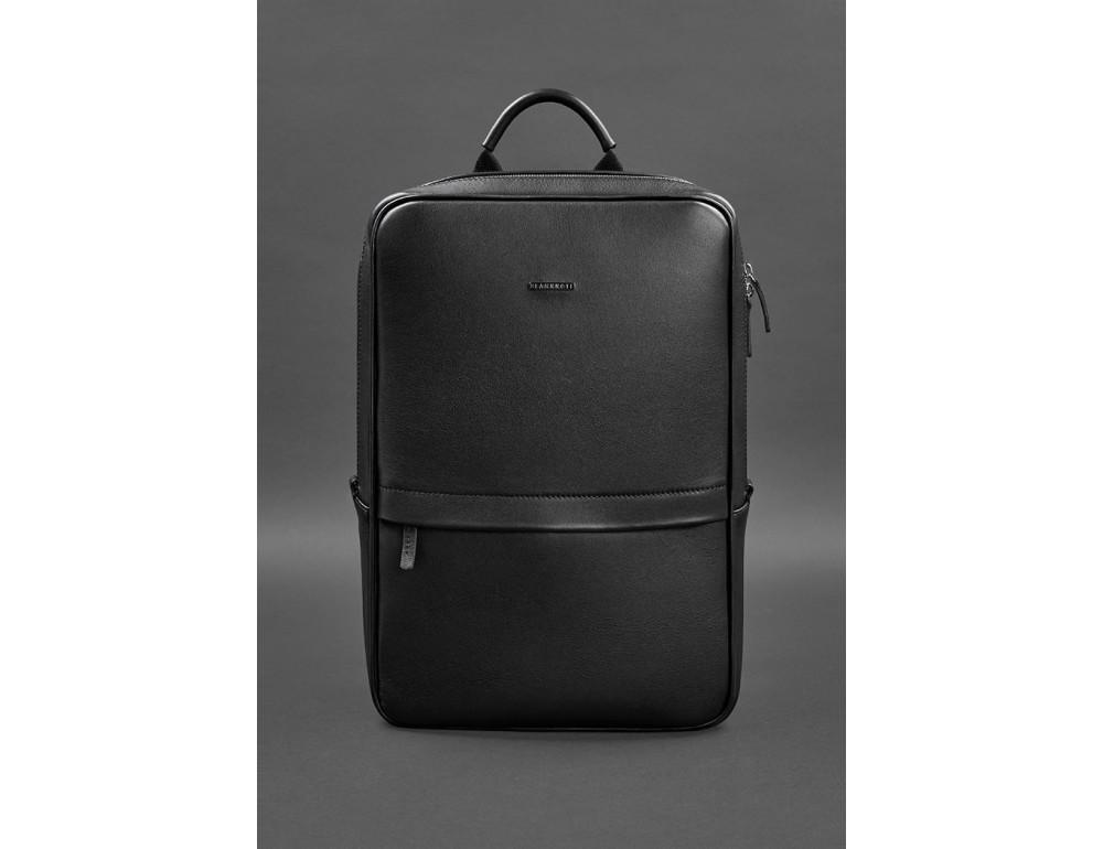 Чёрный мужской рюкзак кожаный Blancnote BN-BAG-39-G - Фото № 1