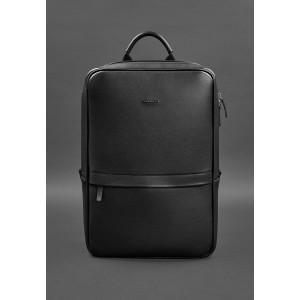 Чёрный мужской рюкзак кожаный Blancnote BN-BAG-39-G