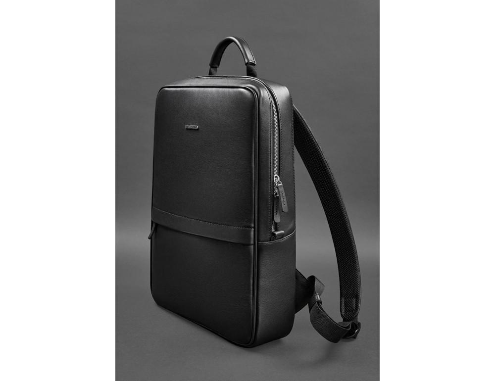 Чёрный мужской рюкзак кожаный Blancnote BN-BAG-39-G - Фото № 3