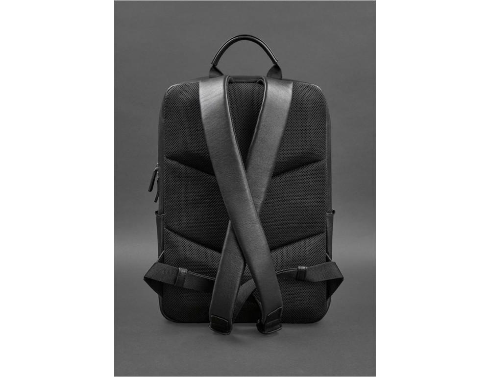 Чёрный мужской рюкзак кожаный Blancnote BN-BAG-39-G - Фото № 4