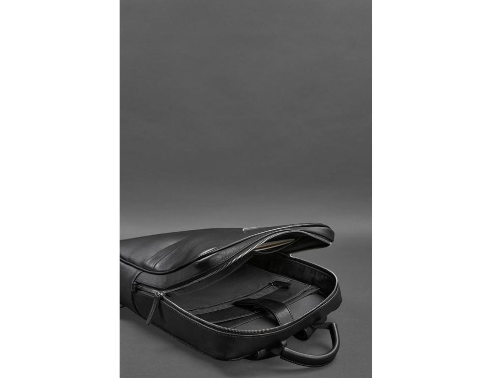 Чёрный мужской рюкзак кожаный Blancnote BN-BAG-39-G - Фото № 5