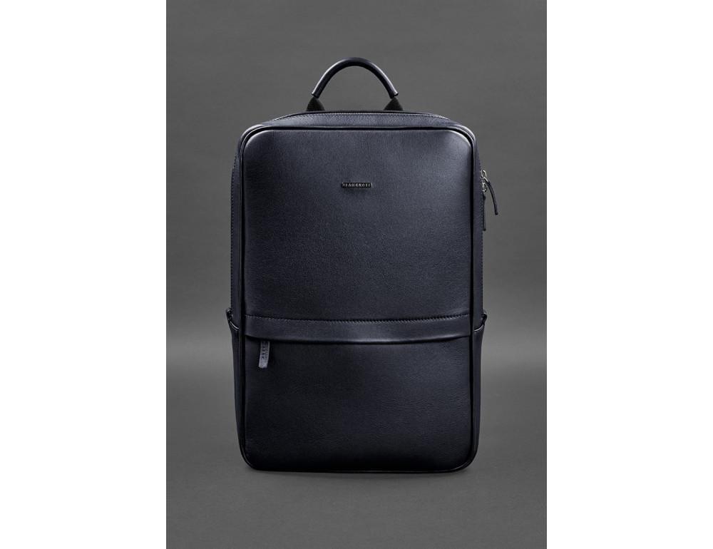 Тёмно-синий мужской рюкзак кожаный Blancnote BN-BAG-39-navy-blue - Фото № 1