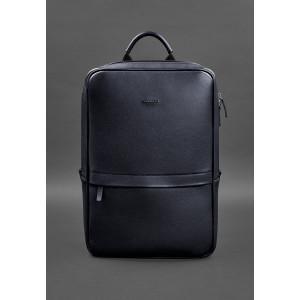 Тёмно-синий мужской рюкзак кожаный Blancnote BN-BAG-39-navy-blue
