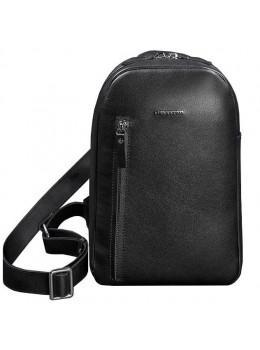 Чорний шкіряний рюкзак на одне плече Blancnote BN-BAG-42-g