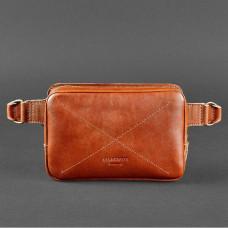 Світло-коричнева шкіряна сумка на пояс Blanknote BN-BAG-6-K