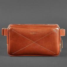 Светло-коричневая кожаная сумка на пояс Blancnote BN-BAG-20-K